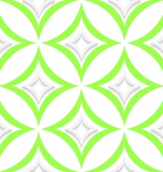 White and green pointy rhombuses seamless vector