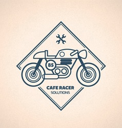 Vintage motorbike label vector