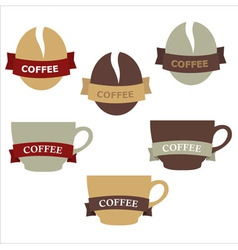 Coffee elements vector