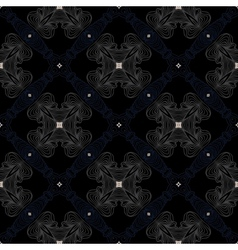Dark victorian floor cerimic tiled pattern vector