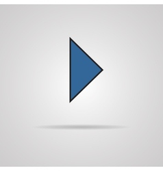 Icon play button web icon with shadow vector