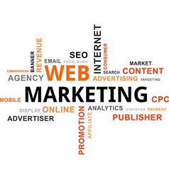 Word cloud web marketing vector