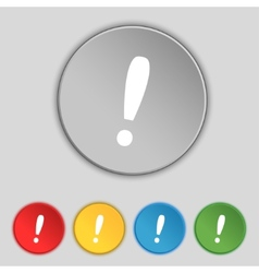 Exclamation mark sign icon attention speech bubble vector