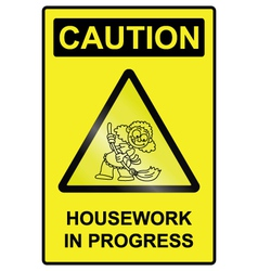 Housework hazard sign vector