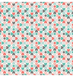Floral seamless pattern red green black and white vector