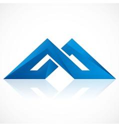 Abstract construction shape logo vector