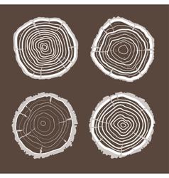Tree rings set flat design vector