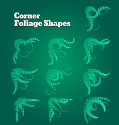 Corner foliage shapes vector