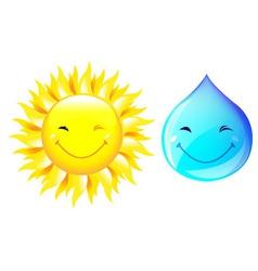 Smiling drop of water vector
