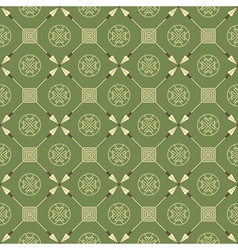 Seamless pattern with arrows and symbols vector