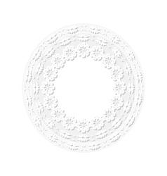 Embossed floral frame vector