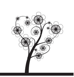 Floral ink vector
