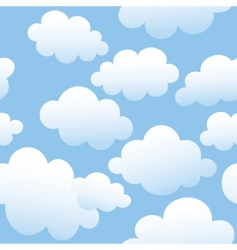 Cloudy seamless background vector