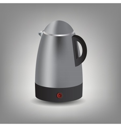 Stainless steel electric kettle icon vector