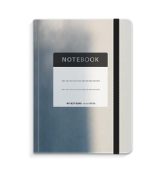 Black copybook with elastic band bookmark vector