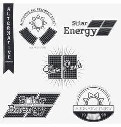 Solar panels alternative eco energy grunge vector