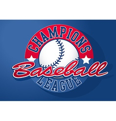 Baseball champions league with ball vector