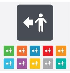 Pedestrian road icon human path vector