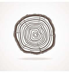 Tree rings flat design vector