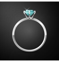 Silver wedding ring vector