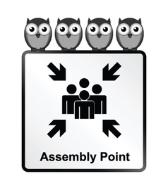 Assembly point sign vector