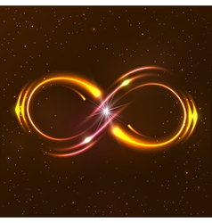 Shining infinity symbol vector