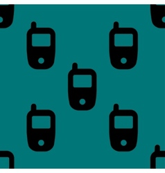 Mobile phone web icon flat design seamless pattern vector