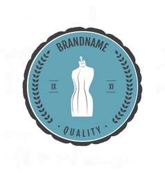 Set vintage retro mannequin shopping badges vector