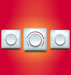 Regulator button vector