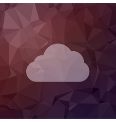 Cloud in flat style icon vector