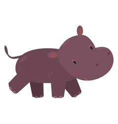 Little funny hippo vector