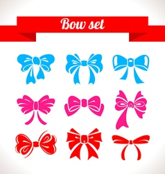 Bow set vector