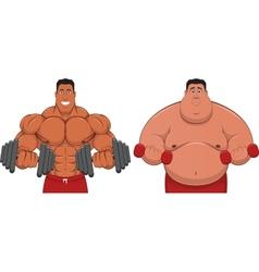 Spotsmen and fatso vector