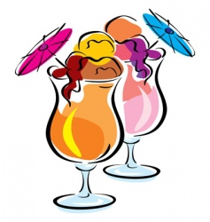 Ice cocktail vector