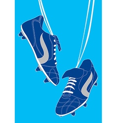 Blue football shoes vector