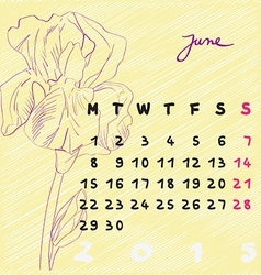 June 2015 flowers vector