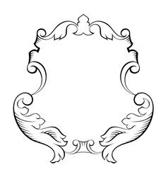 Baroque architectural ornamental decorative frame vector