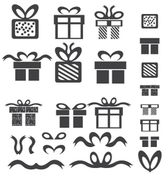 Gift box icons vector