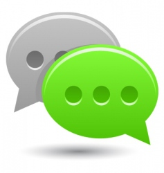 Smooth chat bubbles vector