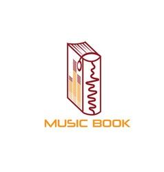 Music book design template vector
