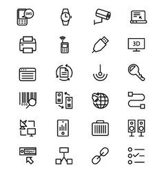 Communication line icons 4 vector