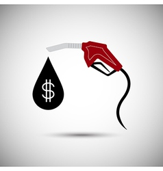 Fuel nozzle with dollar drop vector