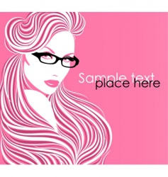Girl in glasses vector