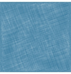 Blue natural cotton fabric textile background vector