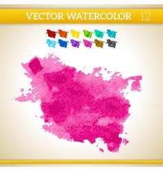 Bright pink watercolor artistic splash for design vector