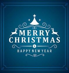 Christmas postcard ornament decoration background vector
