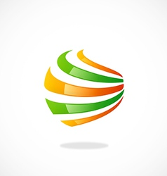 Sphere abstract swirl communication logo vector