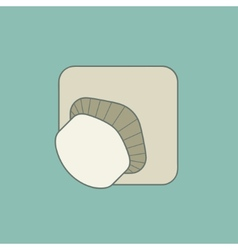 Stylized mushroom flat icon isolated vector