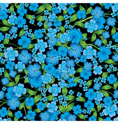 Abstract light blue seamless spring floral vector