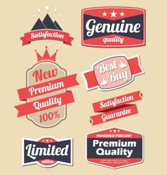 Retro design label set vector